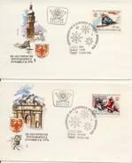 O.W.S. Innsbruck: 4 FDC's Oostenrijk - 1975 - Winter 1976: Innsbruck