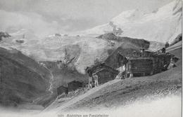 SAAS - FEE → Schöner, Alter Lichtdruck Mit Alphütten Am Feegletscher, Ca.1910 - VS Wallis