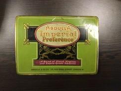 "VINTAGE TIN BOX TOBACCO ABDULLA "" IMPERIAL PREFERENCE "" LONDON ADVERTISING - Boites à Tabac Vides"