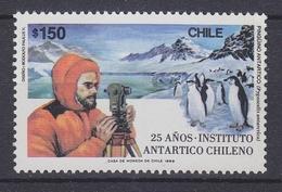 Chile 1989 Antarctica 25 Anos Instituto Antartico Chileno 1v  (34371) - Chili