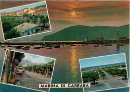 SALUTI   DA  MARINA  DI  CARRARA   VEDUTE  (TIMBRO CAMPEGGIO  GIOVENTU')    (VIAGGIATA) - Carrara