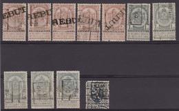 België/Belgique  Preo  Samenstelling Handrol Vanaf/composition Roulette De N°169 Tot/a 5780. - Préoblitérés