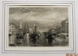 """Superbe  Gravure D' Après Joseph Mallord William TURNER - """"  Le Grand Canal De Venise  """" Gravé Par E. BRANDARD Publié 18 - Engravings"""