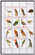 Surinam / Suriname 2005 Owl Eule Hibou Parrot Papagei Papegai MNH Tab - Suriname