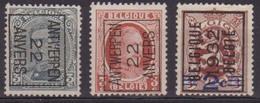 België/Belgique  Preo  Samenstelling Typo Vanaf/composition De N°62 Tot/a 252. - Precancels