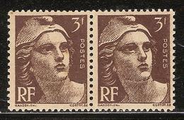 """France Variété N° 715 ** """"F"""" De 3F, Timbre Gauche - Frankreich"""