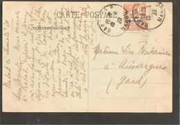 Maroc. Rabat.Poste Francaise Semeuse 15  Surch. Protectorat. 1920 - Briefe U. Dokumente