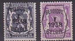 België/Belgique  Preo Typo N°333 + N° 334. - Prematasellados