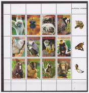 Surinam / Suriname 2006 Aap Apen Monkey Ape Affen Singe MNH Tab - Apen