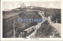 64365 ITALY TORINO TURIN PIAMONTE GLUES SUPERGA & TRAIN POSTAL POSTCARD - Italia