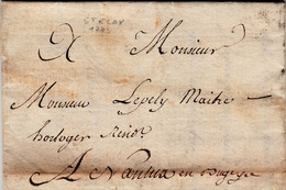 15 MARS 1773  LETTRE PAR PORTEUR  ST ELOY A NANTUA AIN  / 3877 - 1701-1800: Precursors XVIII
