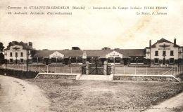 N°32794 -cpa St Sauveur Lendelin -inauguration Groupe Scolaire Jules Ferry- - Autres Communes