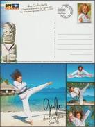 Polynésie Française 2012. Anne-Caroline Graffe, Taekwondo, Jeux Olympiques De Londres, Médaille D'argent, Plage, Pilotis