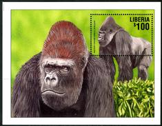 LIBERIA 2001** - Gorilla - Block MNH Come Da Scansione