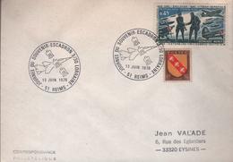 """Lettre 51 Reims* 13 Juin 1976 """" Journée Du Souvenir-Escadron 3/30 Lorraine - Postmark Collection (Covers)"""