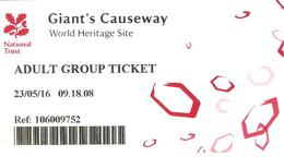 TICKET IRLANDE GIANT'S CAUSEWAY CHAUSSEE DES GEANTS Adult Group Ticket - Tickets - Vouchers