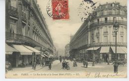 PARIS - VIIIème Arrondissement - La Rue Scribe Et Le Grand Hôtel - Edit. LL - Arrondissement: 08