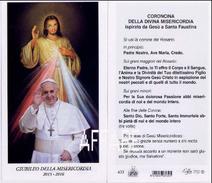 PAPA FRANCESCO Giubileo Della Misericordia 2015-2016 Gesù Confido In Te Santino Santini EGIM Centenario -  Isonzo 433 CV - Religión & Esoterismo
