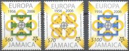 Jamaica Jamaique 2006 Yvertn° 1081-1083 *** MNH  Cote 10 Euro 50 Ans Europa 50 Jaar - Jamaique (1962-...)