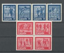 Canada: 526/ 529 + 544/ 547 **  Montréal 76 - Ete 1976: Montréal