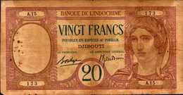 DJIBOUTI Banque-Indochine  20 FRANCS Nd  Pick 7? - Djibouti