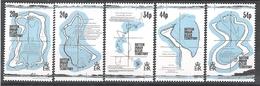 British Indian Ocean Territory 1993 18th Century Maps MNH CV £5.00 - British Indian Ocean Territory (BIOT)