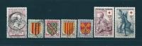 France Timbres De1955 N°1043 A 1049  Oblitéré  (cote 17€80) - Used Stamps