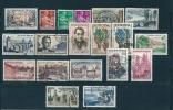 France Timbres De 1957  N°1114  Au N°1131  Oblitérés - Used Stamps