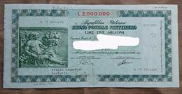 Buono Postale Fruttifero - Lire Due Milioni - Banque & Assurance
