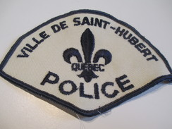 Écusson Tissu Ancien / Canada/ Québec/Police/ Ville De Saint-Hubert/ Années 1980            ET92 - Patches