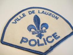 Écusson Tissu Ancien / Canada/ Québec/Police/ Ville De Lauzon/ Années 1980            ET93 - Patches