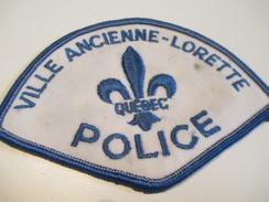 Écusson Tissu Ancien / Canada/ Québec/Police/ Ville Ancienne-Lorette/ Années 1980            ET94 - Patches