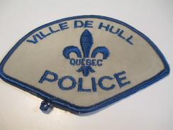 Écusson Tissu Ancien / Canada/ Québec/Police/ Ville  De Hull/ Années 1980            ET95 - Patches