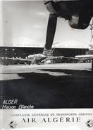 AVIONS..AVIATION...ALGERIE..CARAVELLES...TERRAIN D ALGER/ MAISON BLANCHE...27 X 17.5 Cm - Aviation