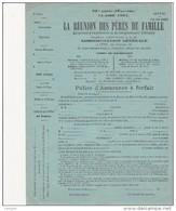 ASSURANCE D´EXONERATION ET DE REMPLACEMENT MILITAIRE -LA REUNION DES PERES DE FAMILLES -CLASSE 1867 - Unclassified