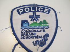 Écusson Tissu Ancien / Canada/ Québec/Police/ Communauté Urbaine De Montréal/ Années 1980            ET96 - Patches