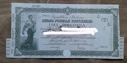 Buono Postale Fruttifero - Lire Diecimila Mila - Banque & Assurance