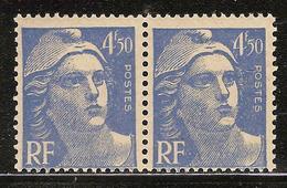 France Variété N° 718A ** Manque Signature - Neufs