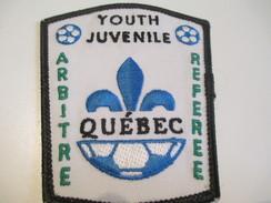 Écusson Tissu Ancien / Canada/ Québec/Sport / SOCCER/Arbitre/Juvénile/Referee/Youth/Années 1980            ET99 - Patches
