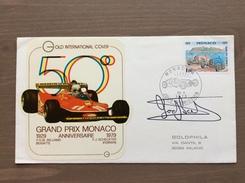 Busta Ufficiale Del 50° Gran Premio Di Monaco Montecarlo Annullo Del 23-5-79 AUTOGRAFO ORIGINALE J. SCHECKTER - Automovilismo