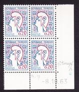 Coins Datés N° 1282 Type I Marianne De Cocteau - TB** - 1960-1969