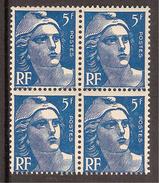 """France Variété N° 719B ** Anneau De Lune Sur Le 4ème Timbre Sous """"5"""" De """"5F"""" - Neufs"""