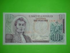 Colombia,10 Pesos,1979.,diez Pesos Oro,UNC,banknote,paper Money,bill,geld - Colombie
