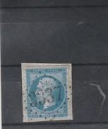 Yvert 22  Sur Fragment Cachet Losange GC 3337 SAVERDUN Ariège - 1862 Napoleon III