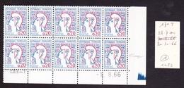 Date Rare De 1966 - Coins Datés N° 1282 Type II Marianne De Cocteau - TB** - 1960-1969