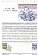DOCUMENT 1986 CARNAVAL VENISE A PARIS - Documents Of Postal Services