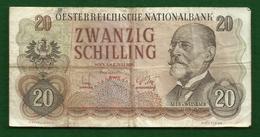 Billet D' Autriche  De 20 Schilling 1956 - Autriche