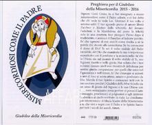 Misericordiosi Come Il Padre Logo Rupnik Giubileo Della Misericordia Santino EGIM Duomo Isonzo 446 CV - Religion & Esotericism