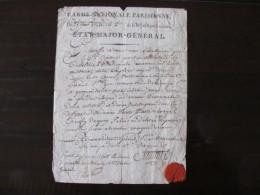 Garde Nationale Parisienne   Autographe Du Général Santerre  Cachet De Cire - Documents Historiques
