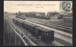 CPA 17 Saint Jean D'Angely La Gare Et Le Train Ligne De Saint Jean D'Angely à Cognac - Saint-Jean-d'Angely